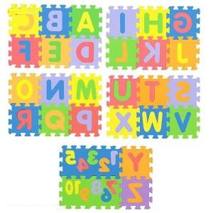 بازی آموزشی پالاس مدل حروف و اعداد انگلیسی سایز مت..